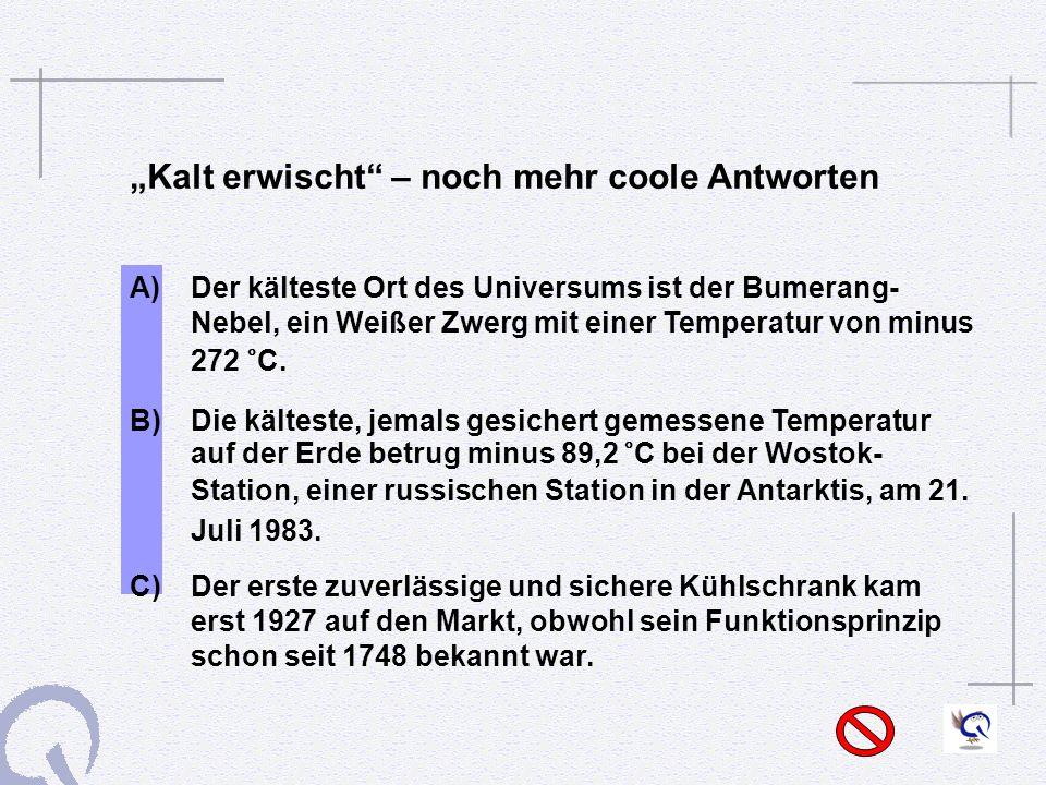 """""""Kalt erwischt – noch mehr coole Antworten"""