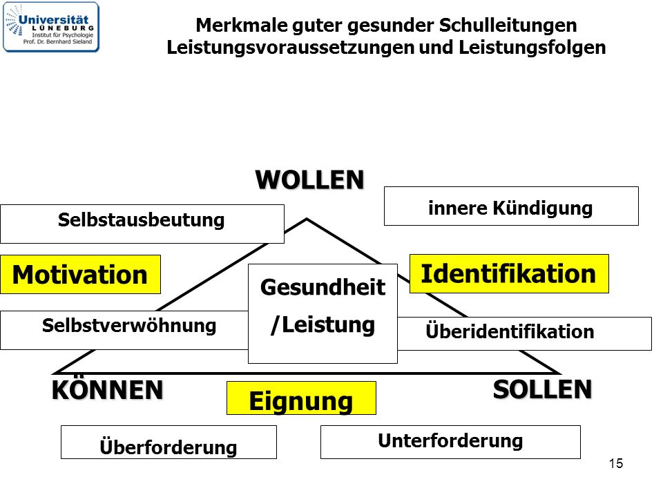 Motivation Identifikation Eignung