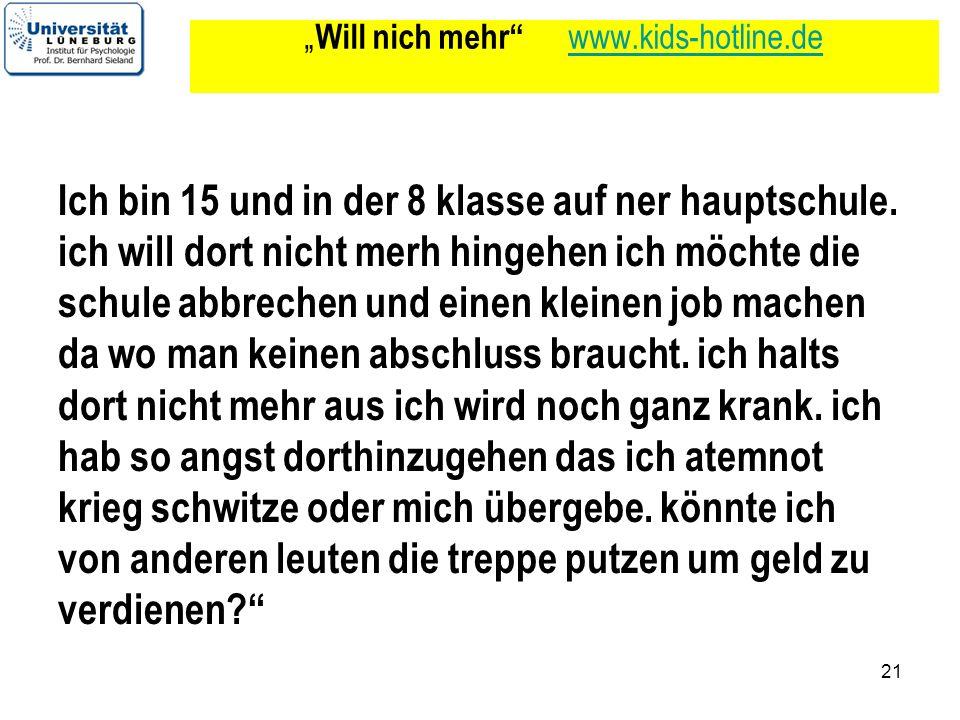 """""""Will nich mehr www.kids-hotline.de"""