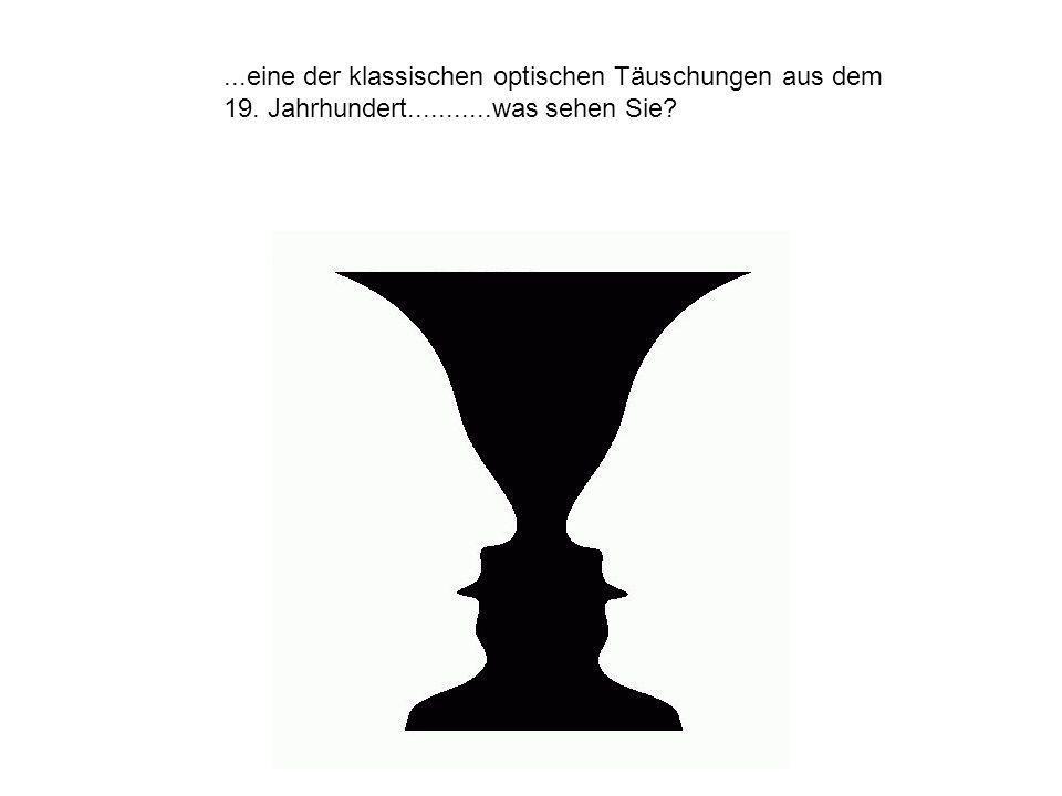 eine der klassischen optischen Täuschungen aus dem 19. Jahrhundert