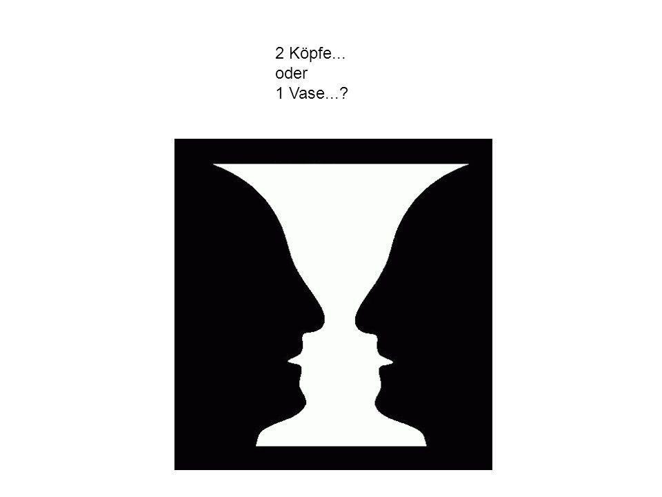 2 Köpfe... oder 1 Vase...