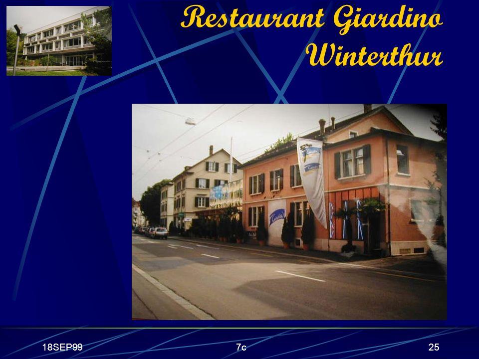 Restaurant Giardino Winterthur