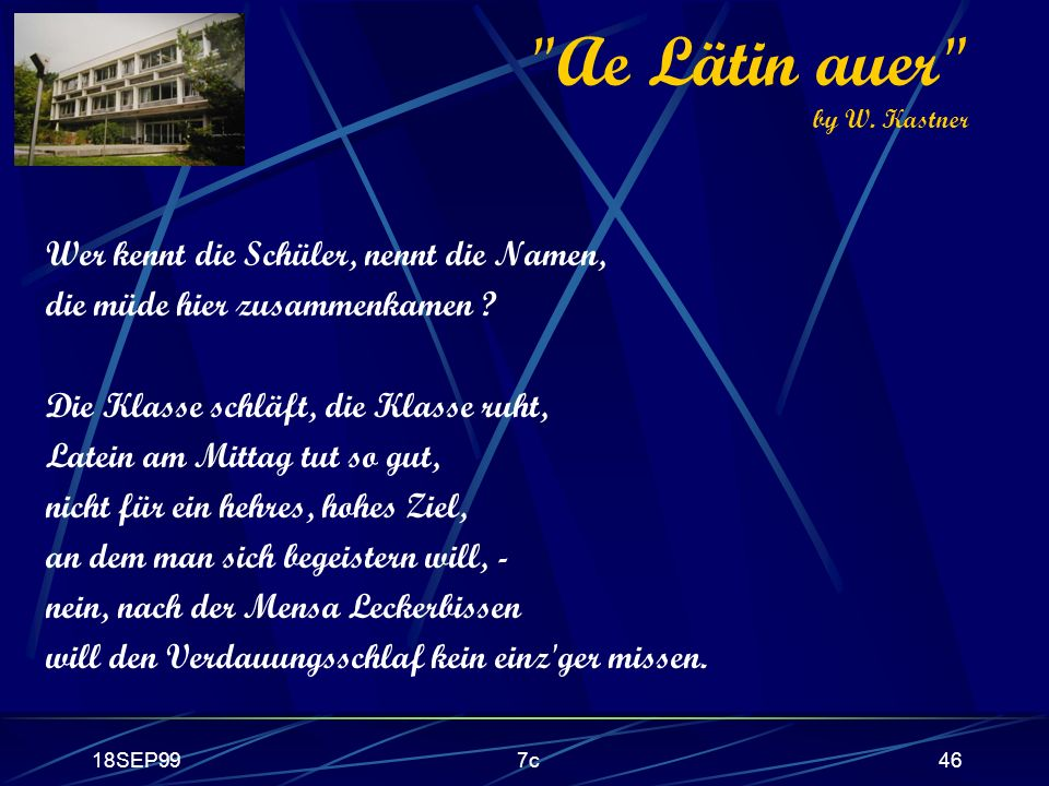 Ae Lätin auer by W. Kastner
