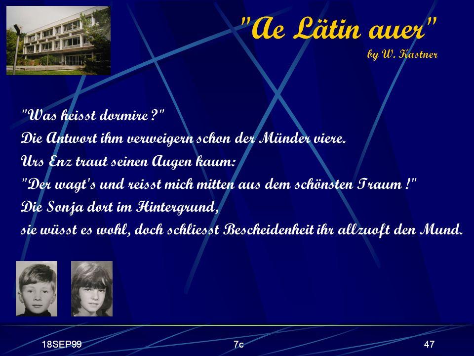 Ae Lätin auer by W. Kastner