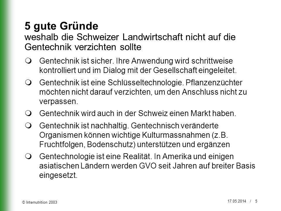 5 gute Gründe weshalb die Schweizer Landwirtschaft nicht auf die Gentechnik verzichten sollte