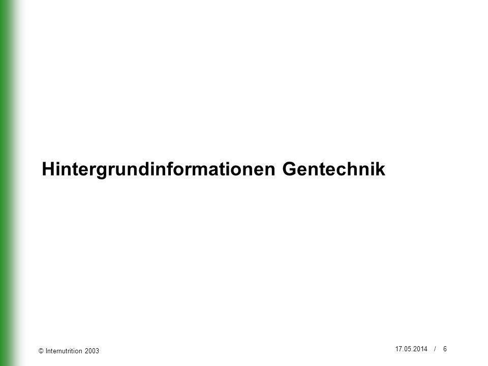 Hintergrundinformationen Gentechnik