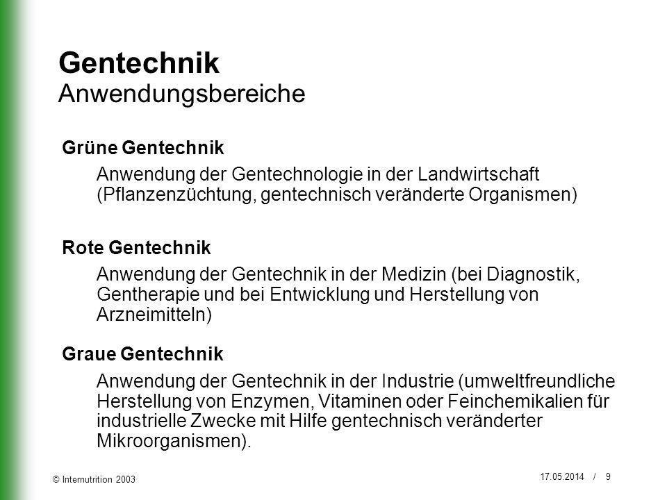 Gentechnik Anwendungsbereiche