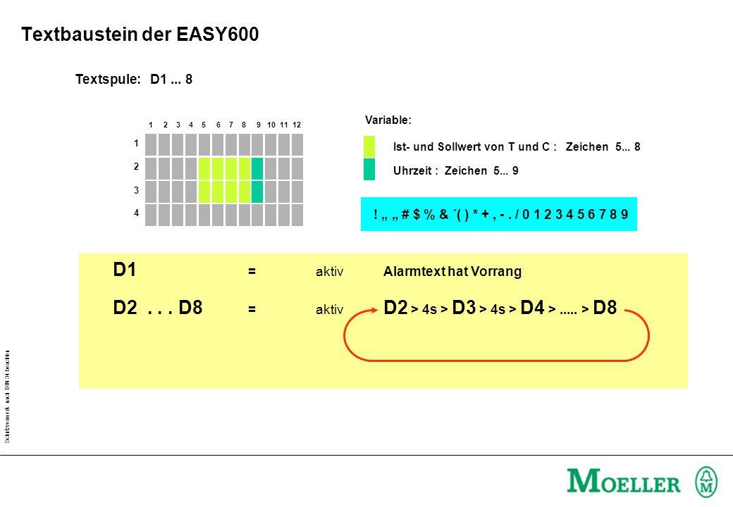 D1 = aktiv Alarmtext hat Vorrang