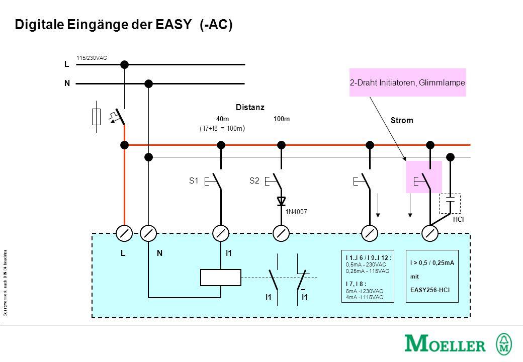 Digitale Eingänge der EASY (-AC)