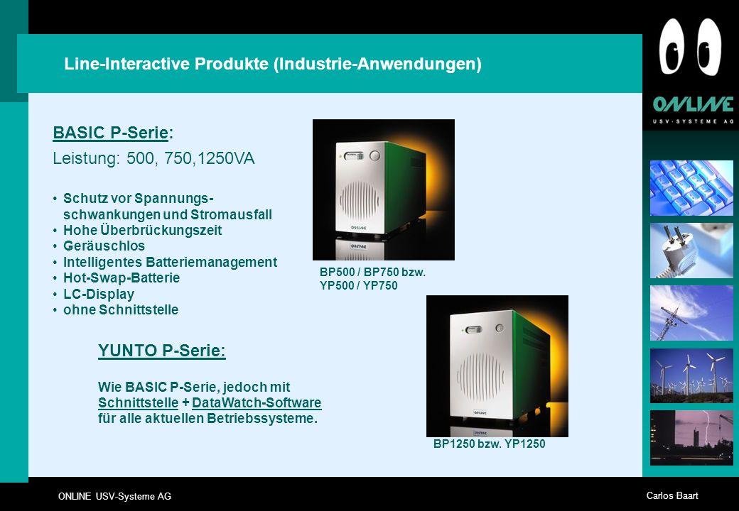 Line-Interactive Produkte (Industrie-Anwendungen)