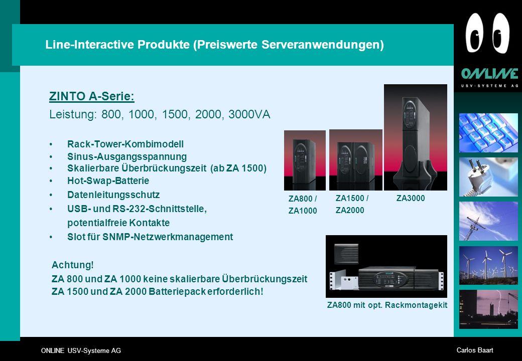 ZA800 mit opt. Rackmontagekit