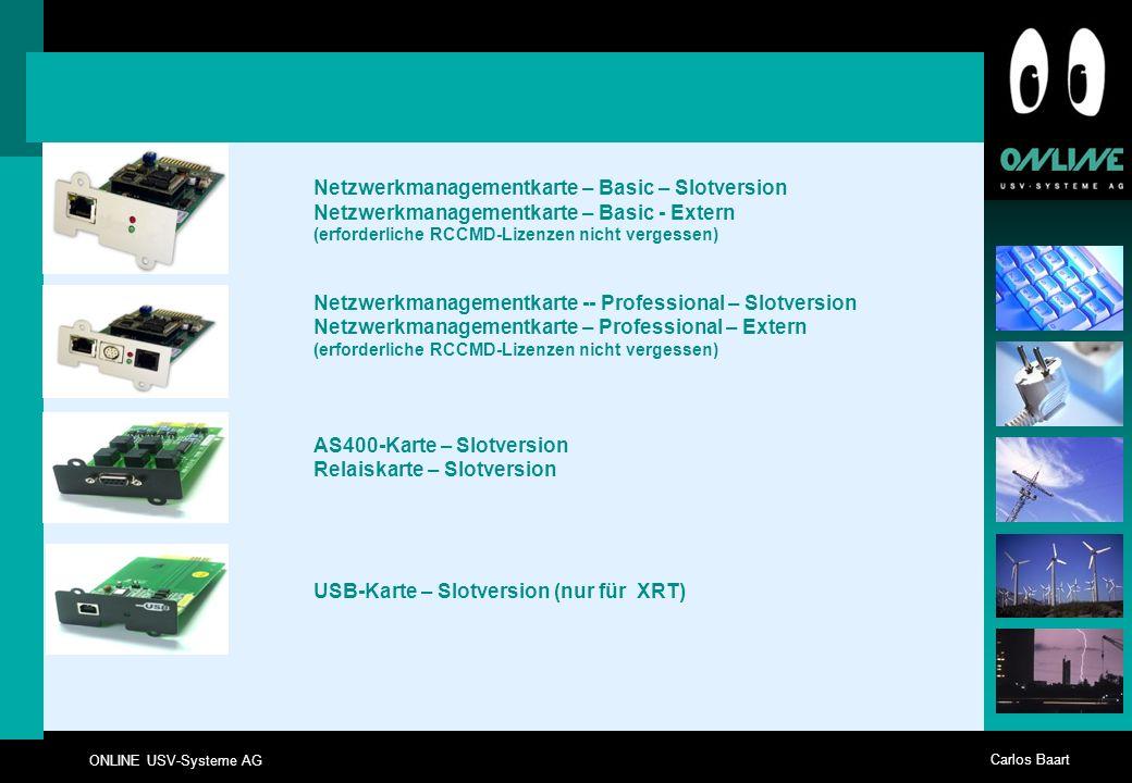 Netzwerkmanagementkarte – Basic – Slotversion