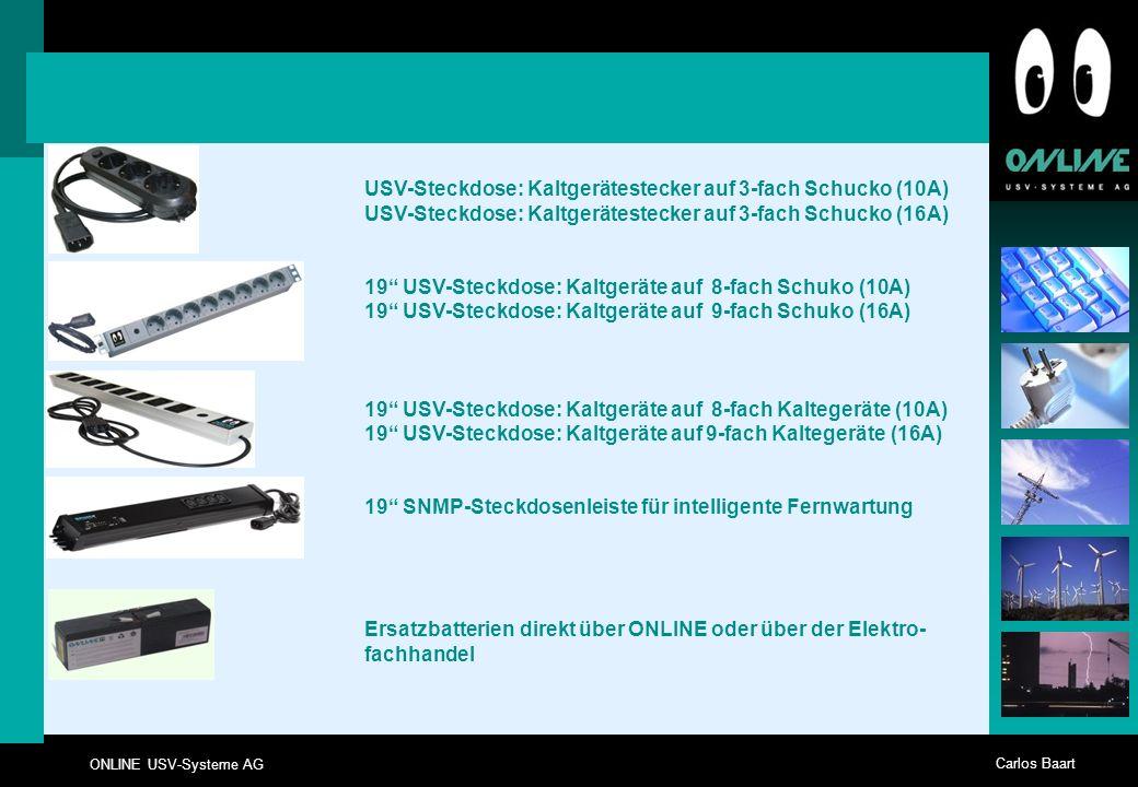 USV-Steckdose: Kaltgerätestecker auf 3-fach Schucko (10A)