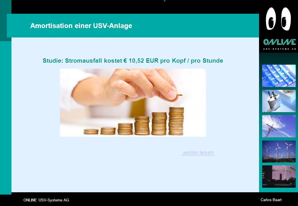 Studie: Stromausfall kostet € 10,52 EUR pro Kopf / pro Stunde