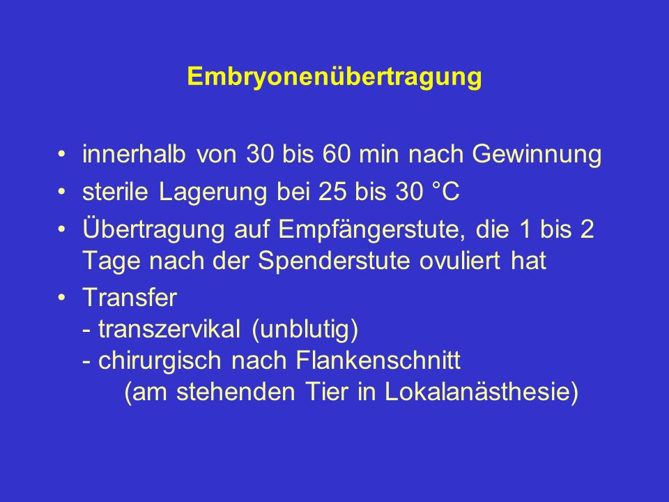 Embryonenübertragung