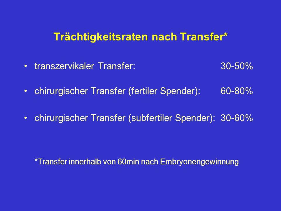 Trächtigkeitsraten nach Transfer*