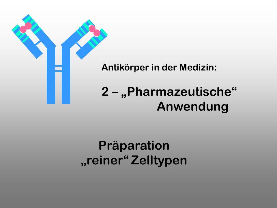 """2 – """"Pharmazeutische Anwendung Präparation """"reiner Zelltypen"""