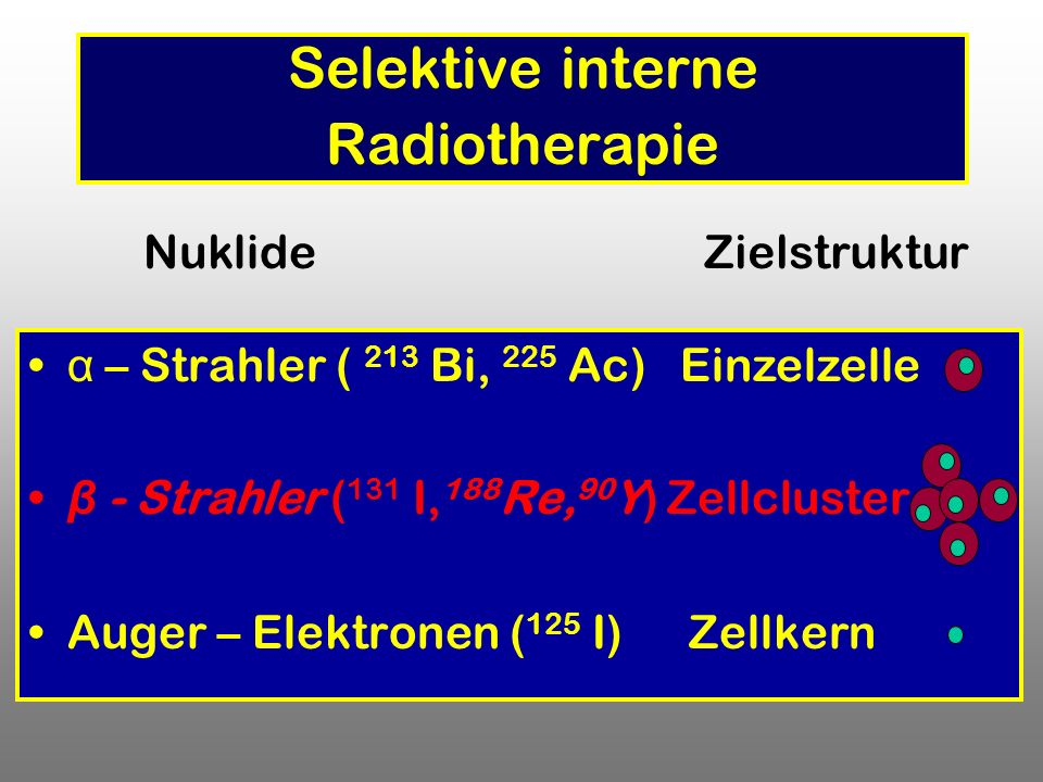 Selektive interne Radiotherapie