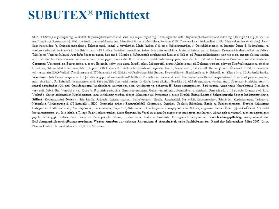 SUBUTEX® Pflichttext
