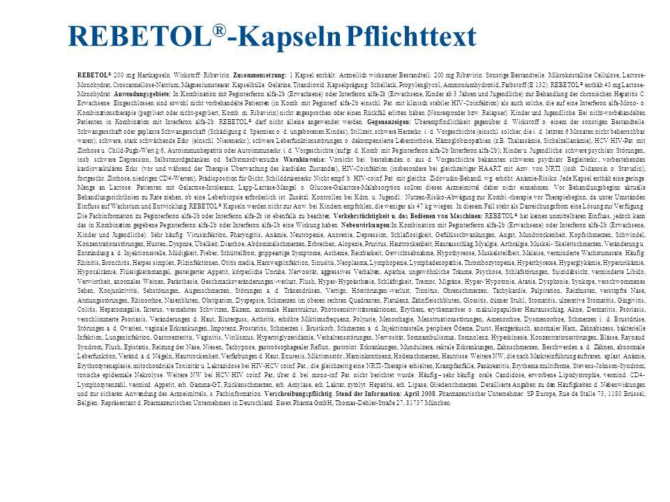 REBETOL®-Kapseln Pflichttext