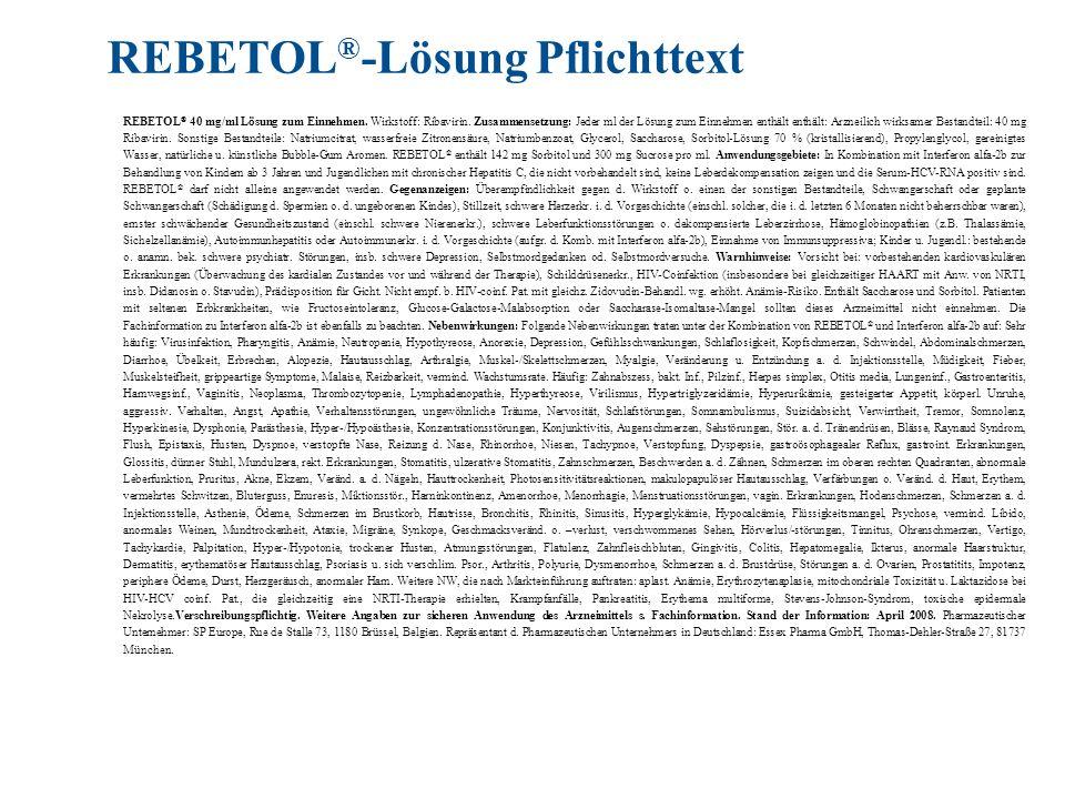 REBETOL®-Lösung Pflichttext