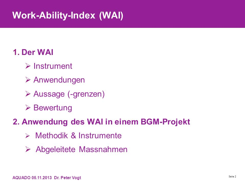 Work-Ability-Index (WAI)