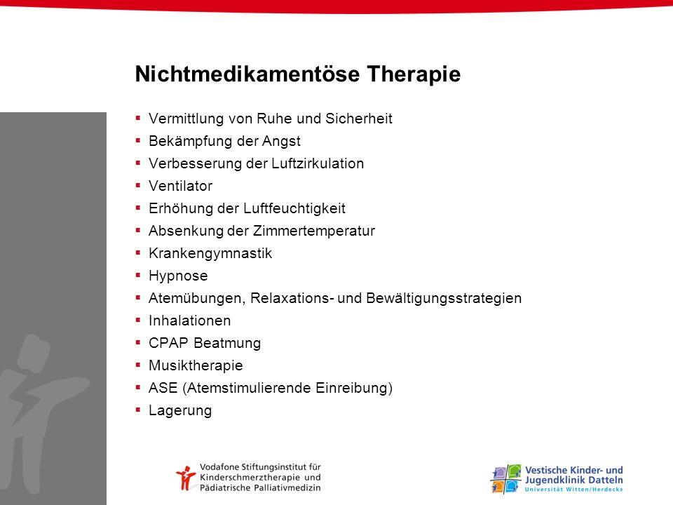 Nichtmedikamentöse Therapie