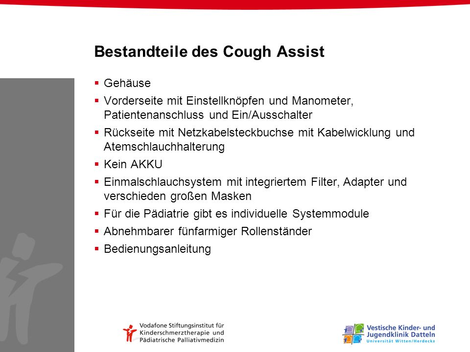 Bestandteile des Cough Assist