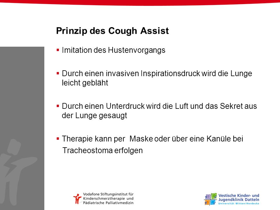 Prinzip des Cough Assist