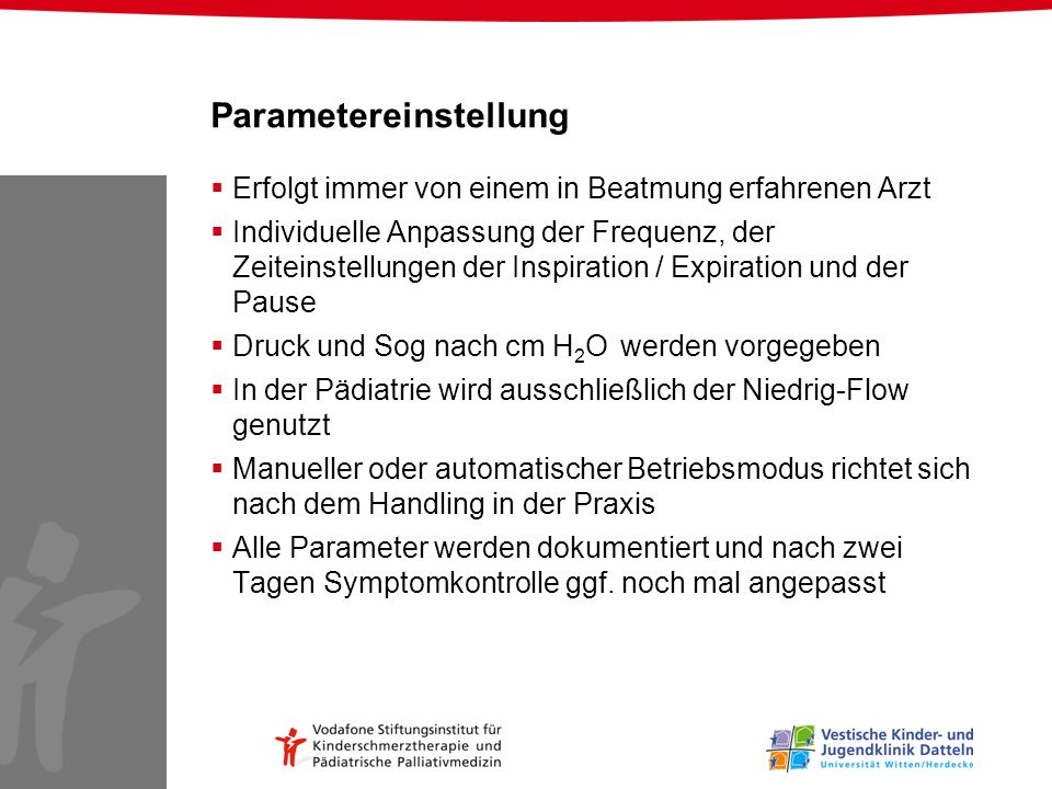Parametereinstellung