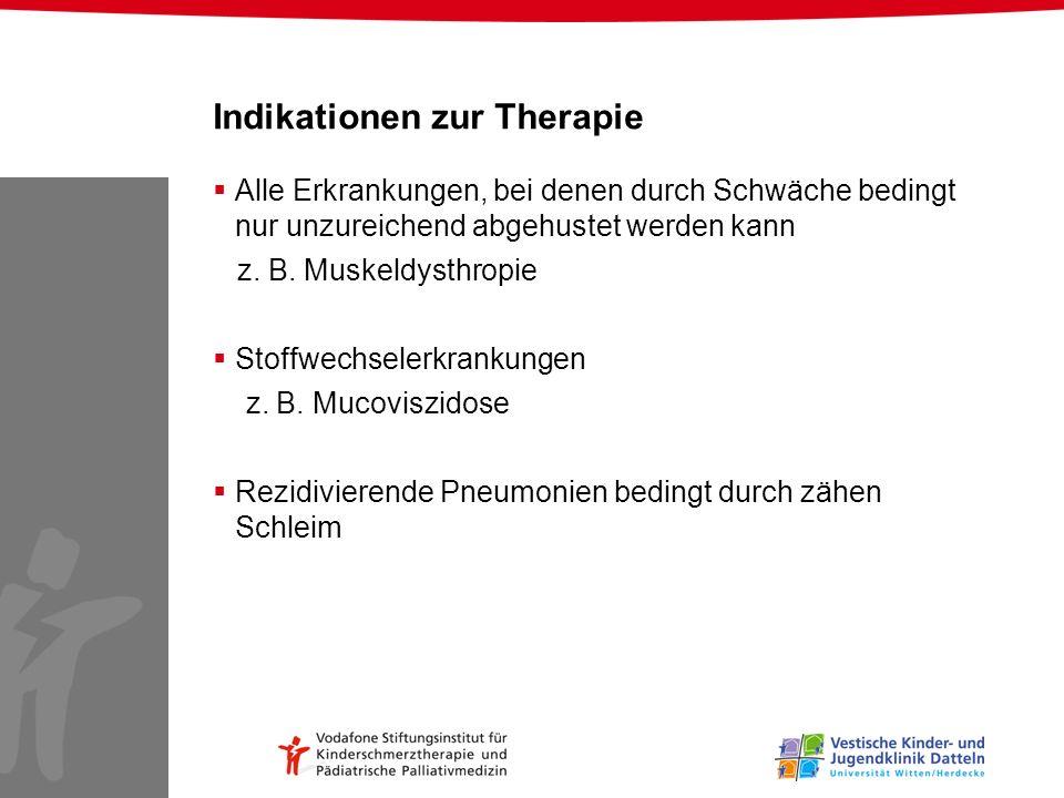 Indikationen zur Therapie