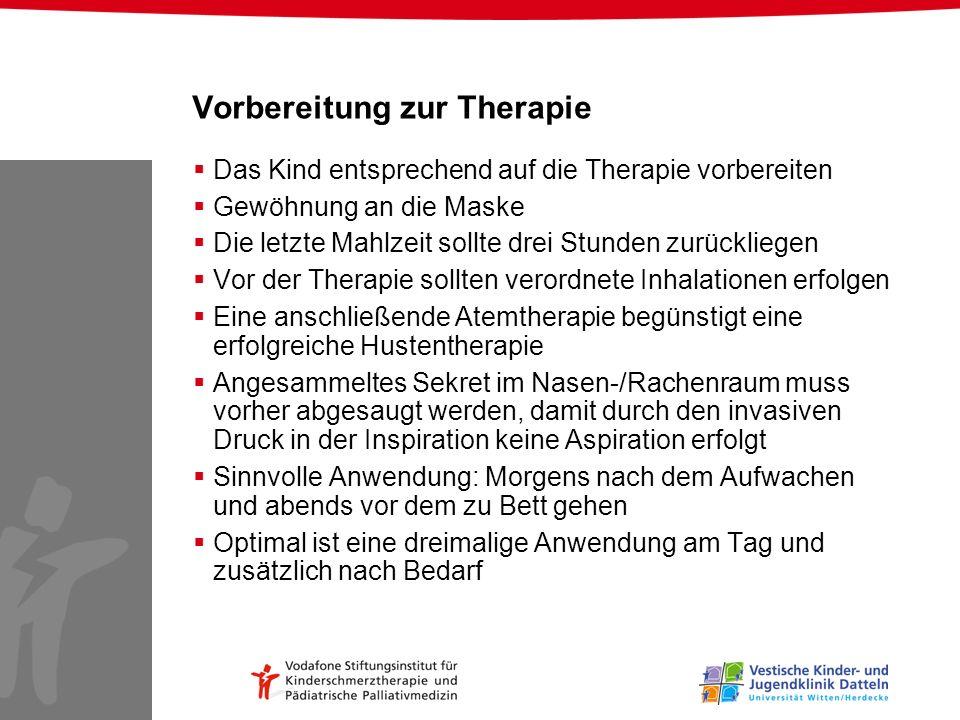 Vorbereitung zur Therapie