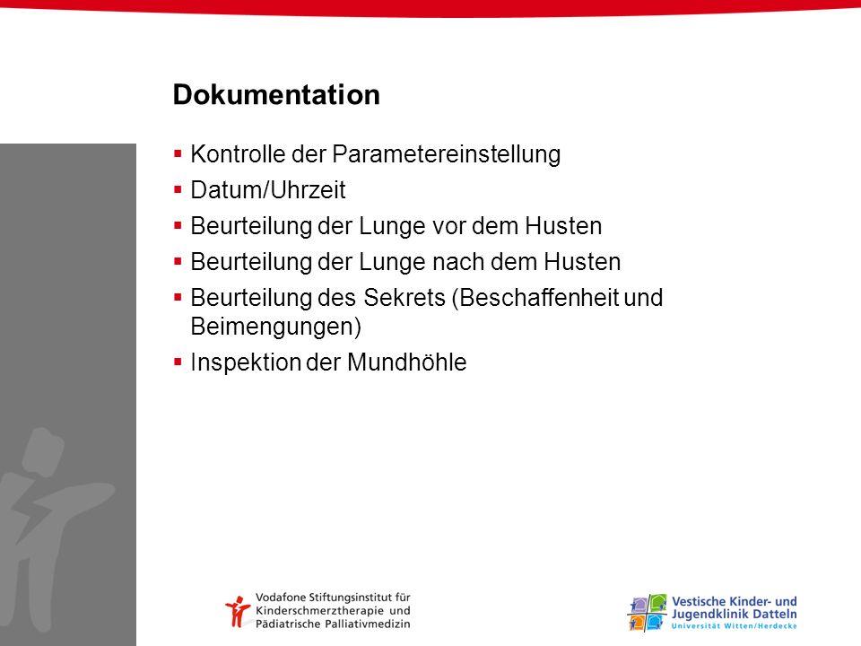 Dokumentation Kontrolle der Parametereinstellung Datum/Uhrzeit