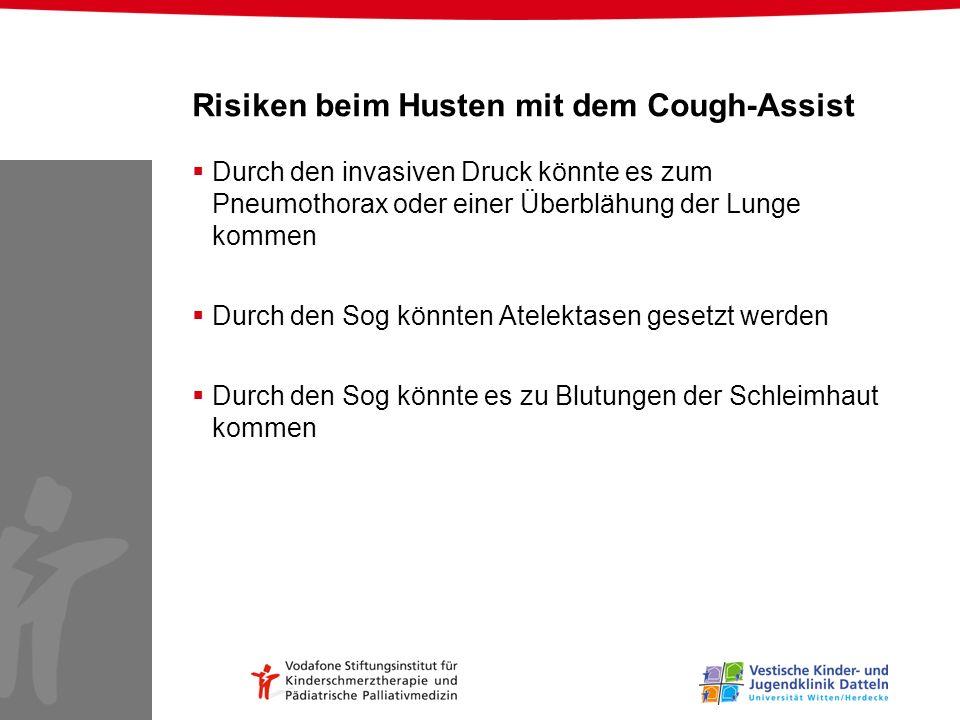 Risiken beim Husten mit dem Cough-Assist