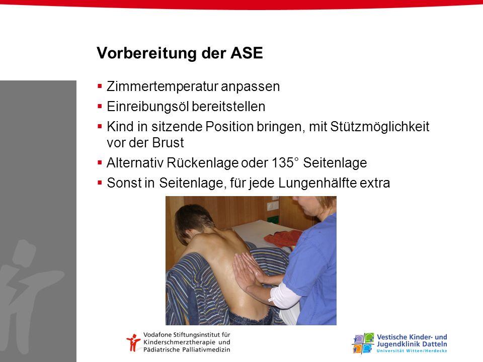 Vorbereitung der ASE Zimmertemperatur anpassen