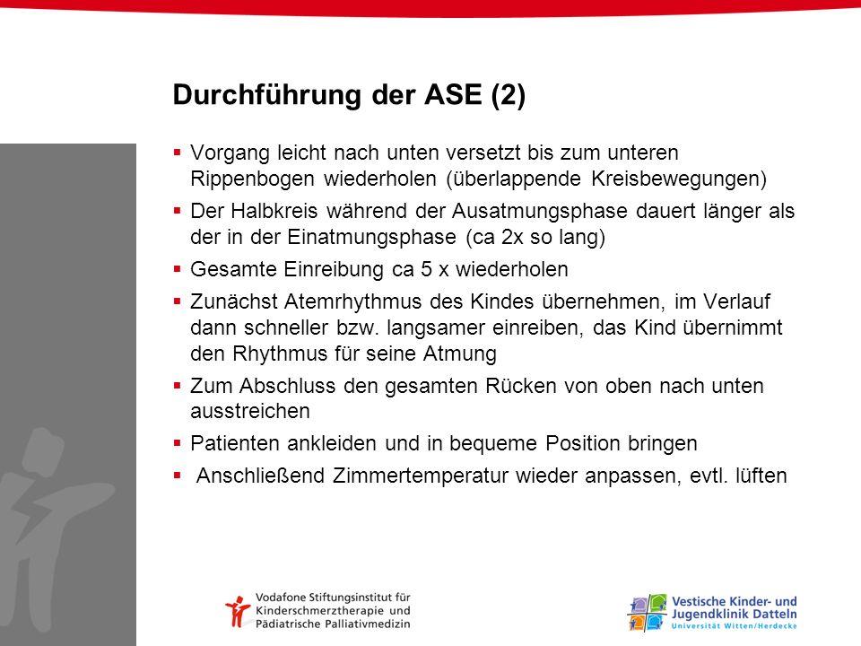 Durchführung der ASE (2)