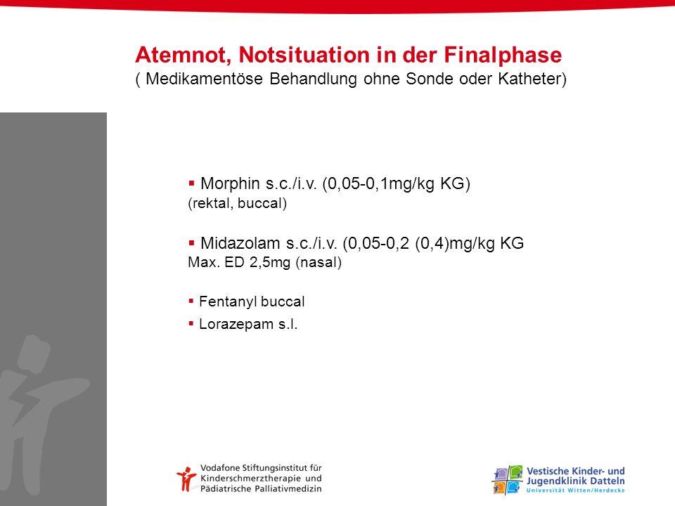 Atemnot, Notsituation in der Finalphase ( Medikamentöse Behandlung ohne Sonde oder Katheter)