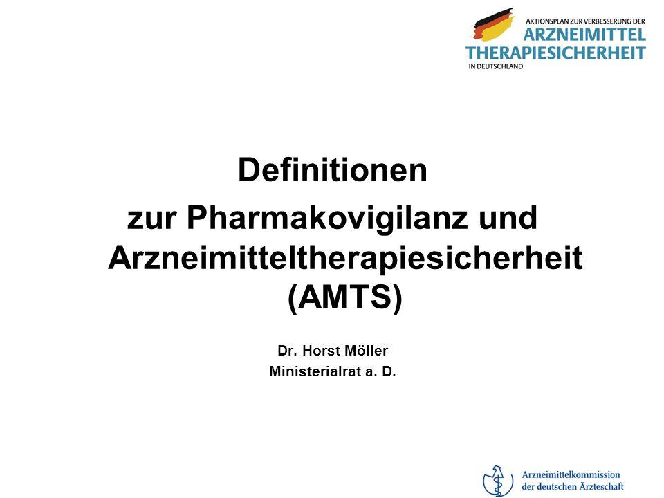 zur Pharmakovigilanz und Arzneimitteltherapiesicherheit (AMTS)