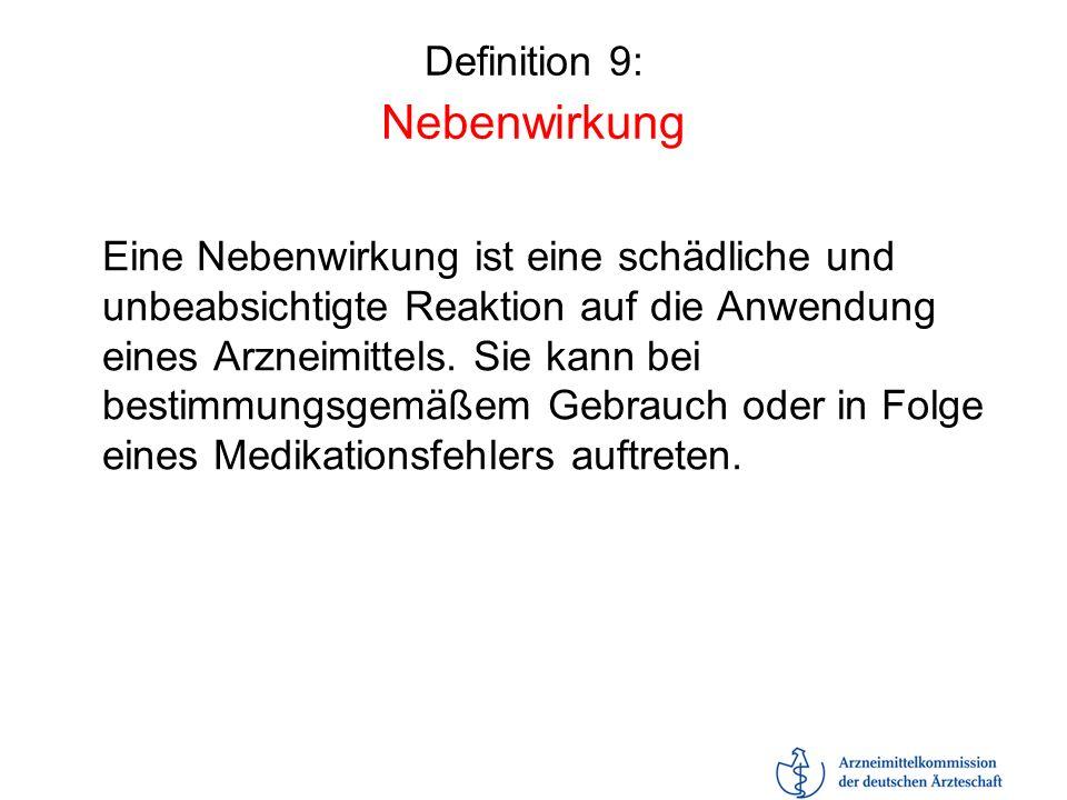 Definition 9: Nebenwirkung