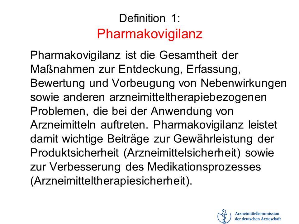 Definition 1: Pharmakovigilanz
