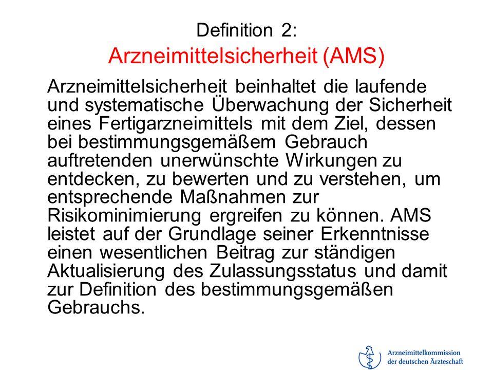 Definition 2: Arzneimittelsicherheit (AMS)