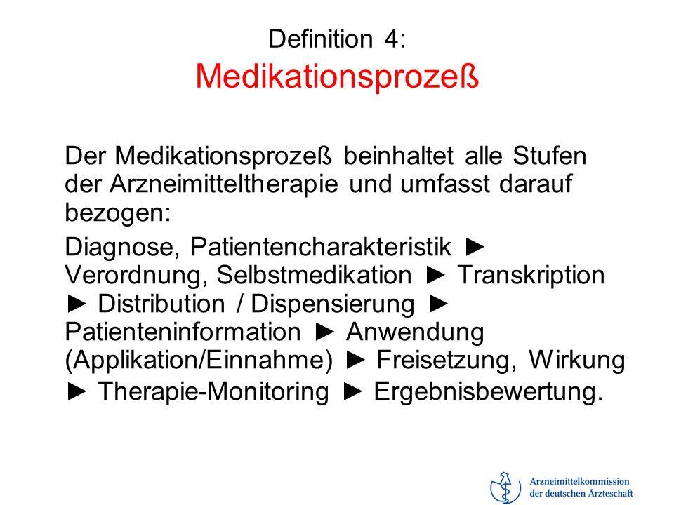 Definition 4: Medikationsprozeß