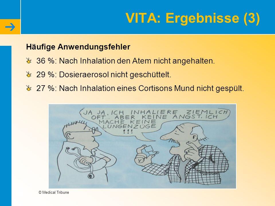 VITA: Ergebnisse (3) Häufige Anwendungsfehler