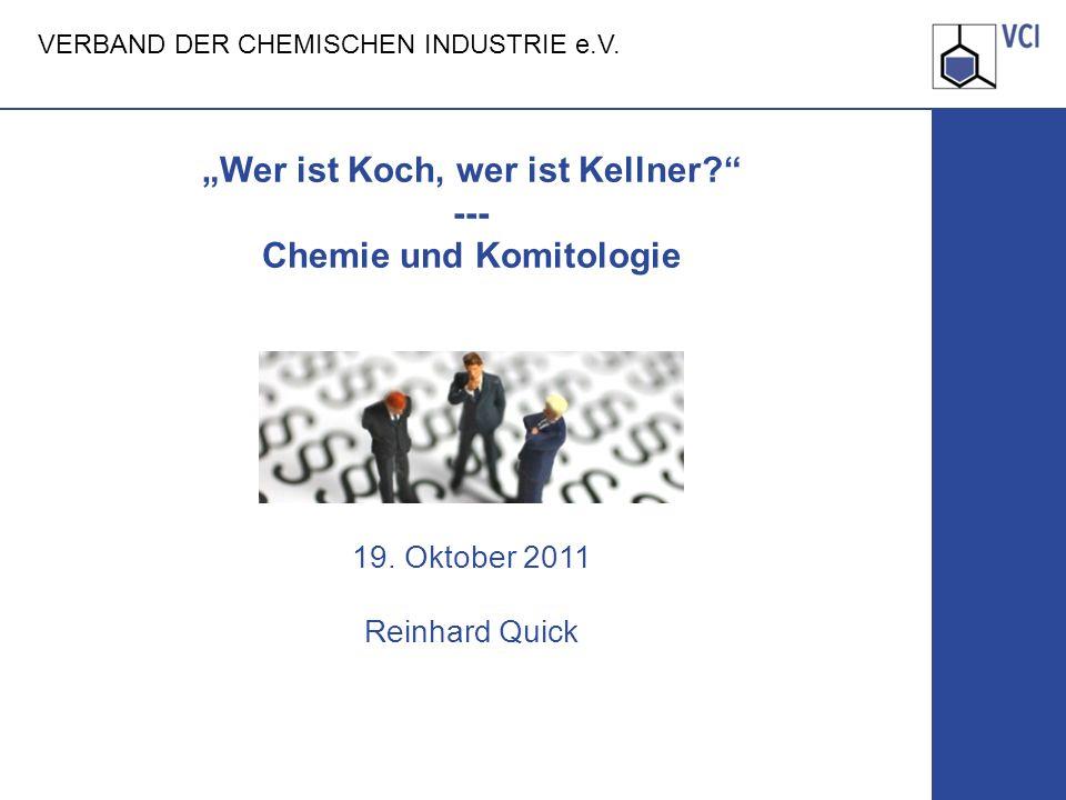 """""""Wer ist Koch, wer ist Kellner. --- Chemie und Komitologie AL am 04"""