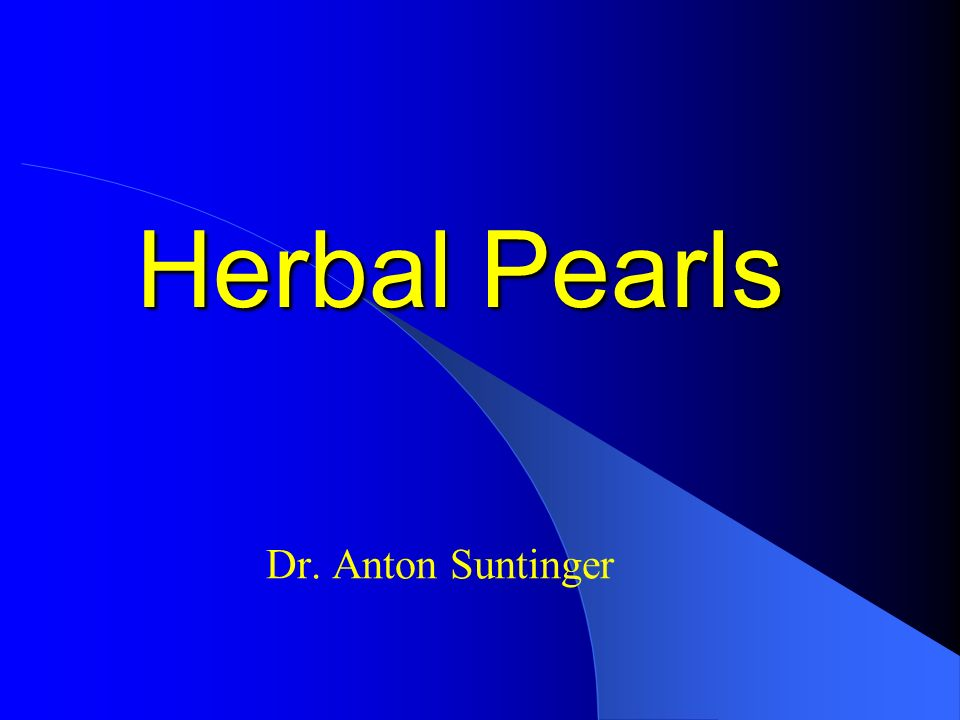 Herbal Pearls Dr. Anton Suntinger