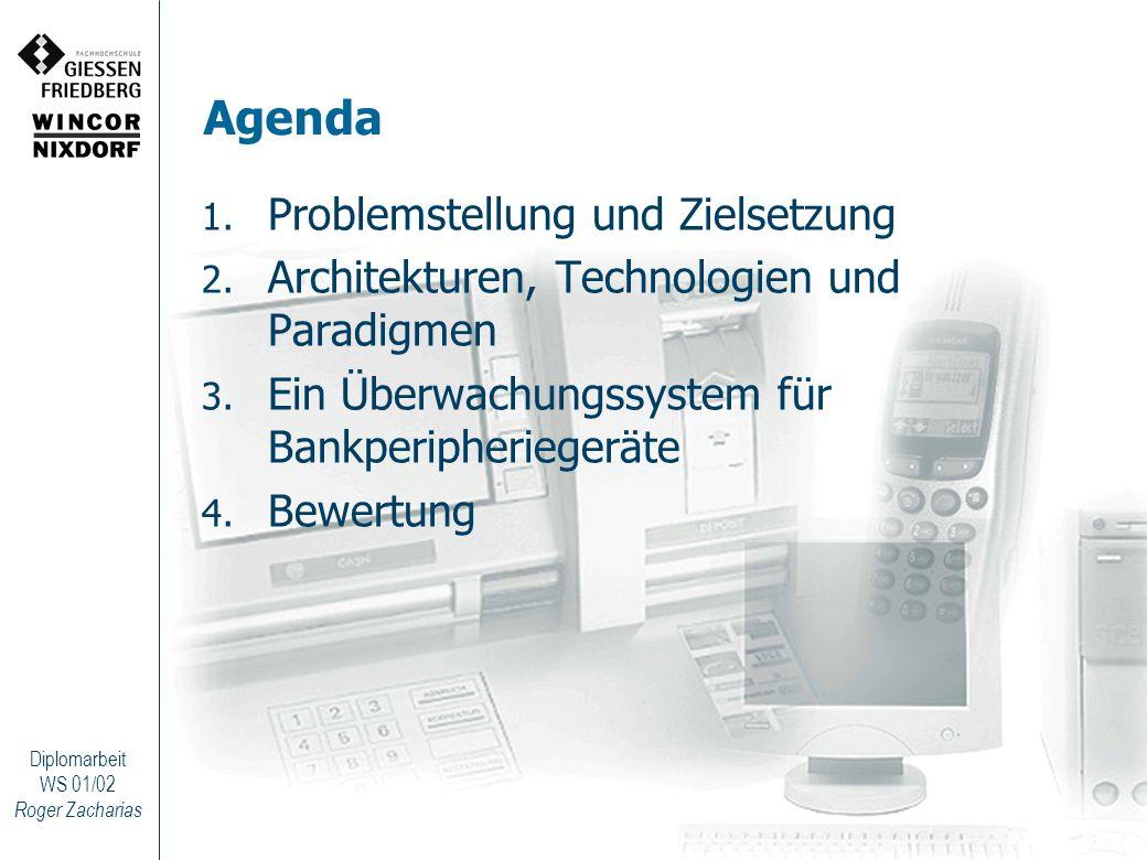 Agenda Problemstellung und Zielsetzung