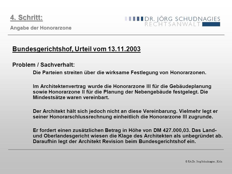 4. Schritt: Bundesgerichtshof, Urteil vom 13.11.2003