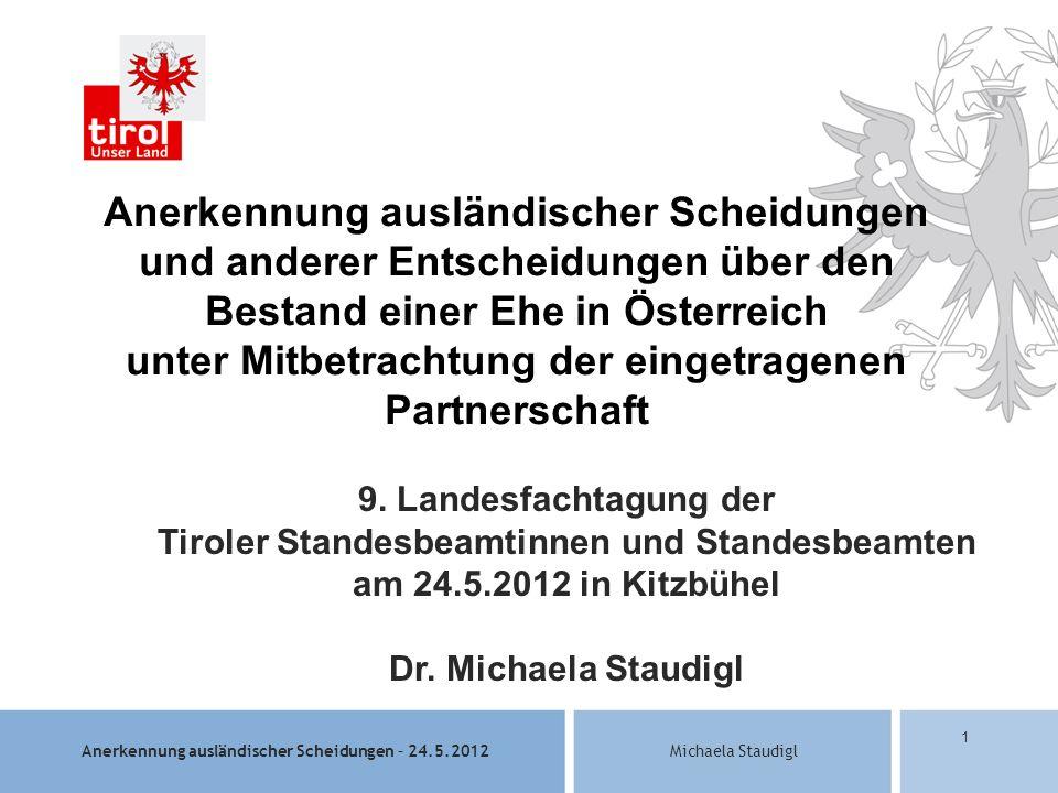 9. Landesfachtagung der Tiroler Standesbeamtinnen und Standesbeamten