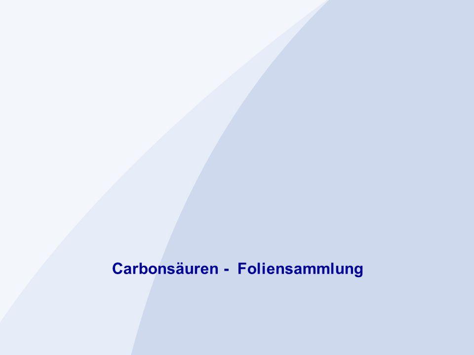 Carbonsäuren - Foliensammlung