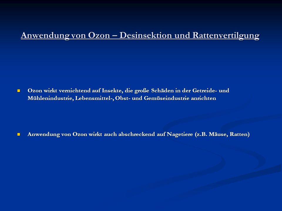 Anwendung von Ozon – Desinsektion und Rattenvertilgung